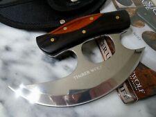 Timber Wolf Shredder Chrome Slicer Ulu Skinner Chopper Knife Full Tang TW1214
