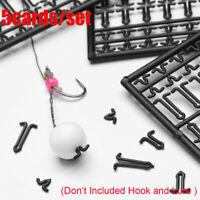 5Pcs Hook Stops Beads Fishing Hair Rig Boilie Bait Lure V Carp Fishing Stopper