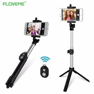 Bluetooth Selfie Stick Extendable Monopod/Tripod Remote Shutter Android iPhone