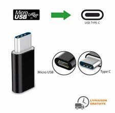 Adaptateur Micro USB femelle vers USB C male adaptateur USB type C