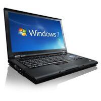 CHEAP FAST LAPTOP DUAL CORE 2.2GHZ LENOVO THINKPAD T500 2GB RAM WINDOWS 7 OFFICE