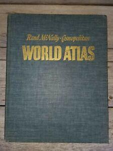 Rand McNally Cosmopolitan World Atlas 1949 Hardcover