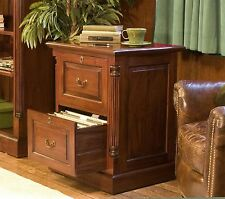 La Roque two drawer office computer filing cabinet solid mahogany furniture