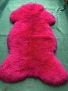 Fur fur Runner Sheepskin Lambskin Red IN Mint Condition 125 X 70 X 7 CM Caravan