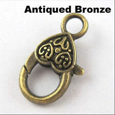 20pcs Tibet Silver,Antiqued gold,Antiqued Bronze Alloy Lobster Clasp Charm