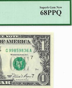 1981 $1 CHICAGO FRN, PCGS SUPERB GEM NEW 68 PPQ UNCIRCULATED BANKNOTE