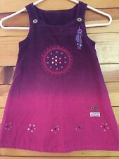Naartjie Ombre Jumper Dress Fuchsia & Purple Corduroy Girls Size 4