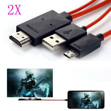 2x MHL Micro USB HDMI 1080P HDTV Cable Adapter For Samsung Galaxy S3 S4 Note 2 3