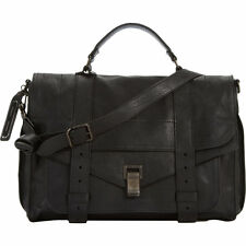 NEW PROENZA SHOULDER PS1 BLACK LEATHER MEDIUM SATCHEL $1780