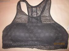 new SO LACE BRALETTE sexy NYLON spandex ASPHALT GRAY t-back padded MEDIUM