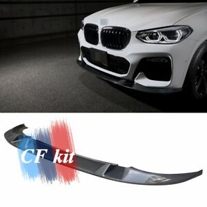 For BMW X3 X4 G01 G02 M Sport M40i 3D Style Carbon Fiber Front Bumpers Lip Parts