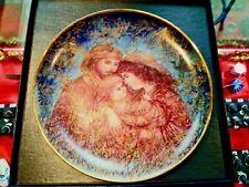 "Hibel Studio 1991 Christmas ""The First Holiday"" Plate By Edna Hibel, 9 3/8"" Dia"