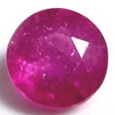 NATURAL ROUND-CUT RED-PINK RUBY GEMSTONES  6.0 mm VERY PRETTY AAA