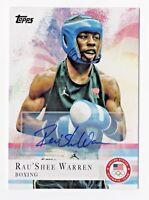 2012 Topps USA Olympic Team Autograph Rau'Shee Warren Bantamweight Boxing