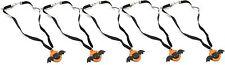 ZEST 5 mignon Chauve-Souris colliers sur ruban cordon noir & orange
