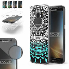 Urcover® TPU Protección Completa 360° Grados Mandala Funda Móvil Case Cover