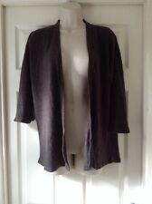 Dorothy Perkins Super Soft Grey Cardigan, 3/4 Sleeve, Size 14