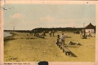 Vintage Postcard, The Beach at Port Elgin Ontario, (Damaged)