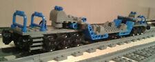 LEGO® City Eisenbahn Schwerlasttiefladewagon blau-schwarz MOC bricktrain 60198