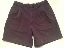 "ABERCROMBIE & FITCH NAVY BLUE PLEATED MENS SHORTS 32""W Tag ""33"" EUC SWEET! SH23"