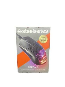 STEELSERIES Aerox 3 RGB Wireless Optical Gaming Mouse 5 Buttons - New