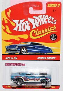 HOT WHEELS CLASSICS SERIES 3 RODGER DODGER #28/30 BLUE