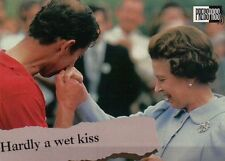 Queen Elizabeth Gets a Hand Kiss --- Royal Family Trading Card, Not a Postcard