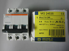 Merlin Gerin Square D MG24535 4 AMP 3P TRIP D CURVE  NEW, 98F-1