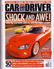 CAR AND DRIVER MAGAZINE December 2005 Volume 51 #6 Z06 SRT10 530xi