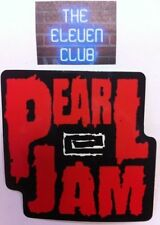 Pearl Jam Ten Era Logo Sticker VTG 1991 Rare Import OOP Mint LE LP Vedder