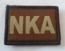 Desert Blood Group Patch, Badge, Tan, Army, NKA, No Known Allergies, Hook & Loop