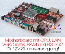 Silencieux! carte mère 13x17 CM avec CPU vga 3x usb réseau CF-CARD rs-232 12v a230