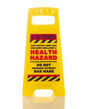 Health Hazard Office Novelty Desk Warning Sign