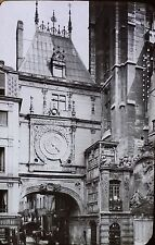 Tour de la Grosse Horloge, Rouen, France, Magic Lantern Glass Slide