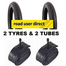 2 x 14 x 1.75 Tyres & 2 x Inner Tubes Schrader Valves - Free Delivery
