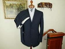 NEW! SALE! Alfred Dunhill Navy FULL CANVAS Suit 38 UK 48 EU 32 W Italian Zegna