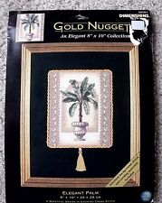 NIP Dimensions Gold Nuggets Collection Elegant Palm Counted Cross Stitch Kit