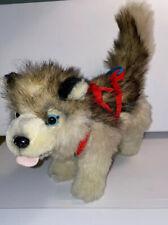 Kipmik Plush Alaskan Sled Dog Husky w Harness Stuffed Alaska Clean Euc Great Fur