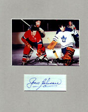 Jean Beliveau and Johnny Bower Signed Photo  COA 7/14