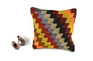 Kilim Pillow Cover 14x14 Vintage Home Decorative Sofa Couch Cushion A2462