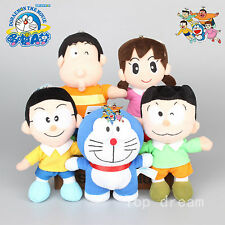 5X Doraemon Plush Nobita Nobi Minamoto Shizuka Toy Soft Stuffed Doll 8'' Gift