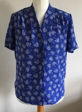 Eastex Heirloom Collection Sz10 Ladies Purple Blouse With White Floral Print