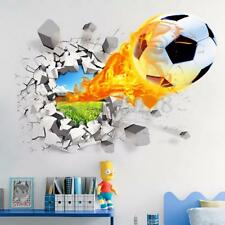 3D Football Soccer Vinyl Wall Sticker Decal Stadium Crack Mural Game Theme Decor