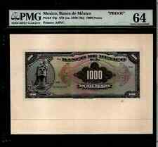 "MEXICO 1940 1000 pesos "" PROOF"" BANKNOTE #MA-BN-95-96"