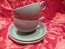 🌞   Denby Manor Green Pair Of Tea Cups & Saucers   🌞