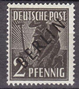Mi-Nr. 1 Postfrisch m. Gummi 1948 PFLANZER Überdruck Berlin Pr. Ing.Becker (b75)