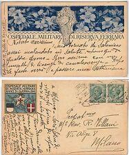 CARTOLINA d'Epoca - FERRARA citta': OSPEDALE MILITARE DI RISERVA Illustrata 1916