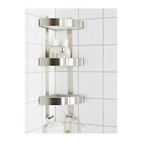 RUST RESISTANT 3 TIER BATHROOM CORNER CADDY WALL SHELF STAINLESS STEEL GRUNDTAL