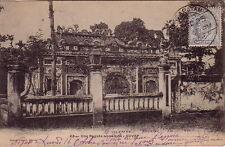 INDOCHINE - VIETNAM - GOVAP - UNE PAGODE ANNAMITE - CARTE DE 1905 POUR KARIKAL.