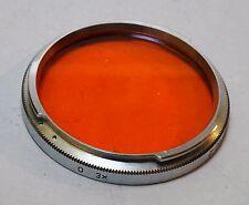 Used Zeiss Ikon Contarex Lens B56 Orange Color filter Planar Sonnar